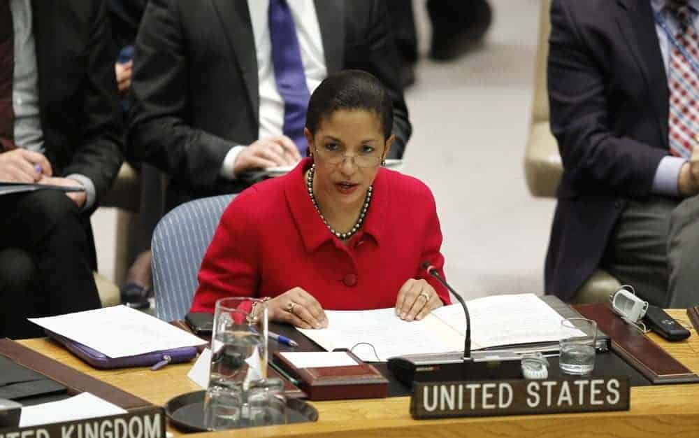 Susan Rice, US Ambasador at the Security Council meeting on Syria.