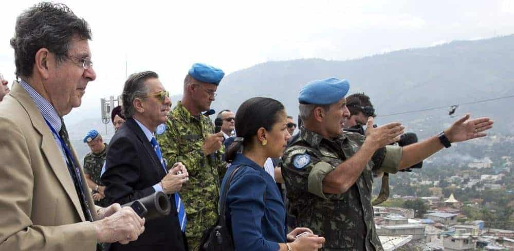 Security Council Visits the Fort National UN Base in Haiti