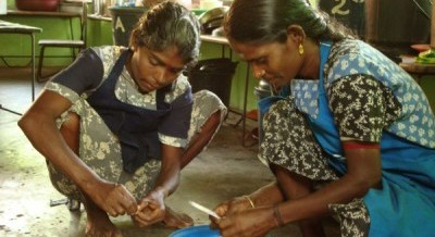 Cooks at the Tharanikulam Ganesh School in Vavunya, Sri Lanka