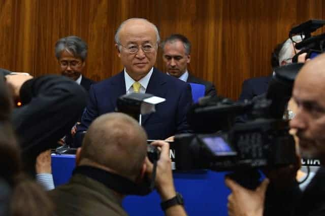 Yukiya Amano, the chief of the UN International Atomic Energy Agency. He is said to be closely allied with the United States and others in the West.