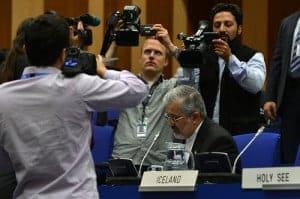 Ali Asghar Soltanieh, Iran's envoy, at a UN nuclear agency meeting on June 4, 2012.