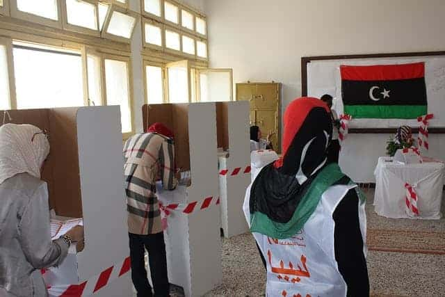 Voters in Libya