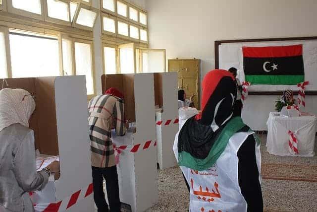Voters in Libya