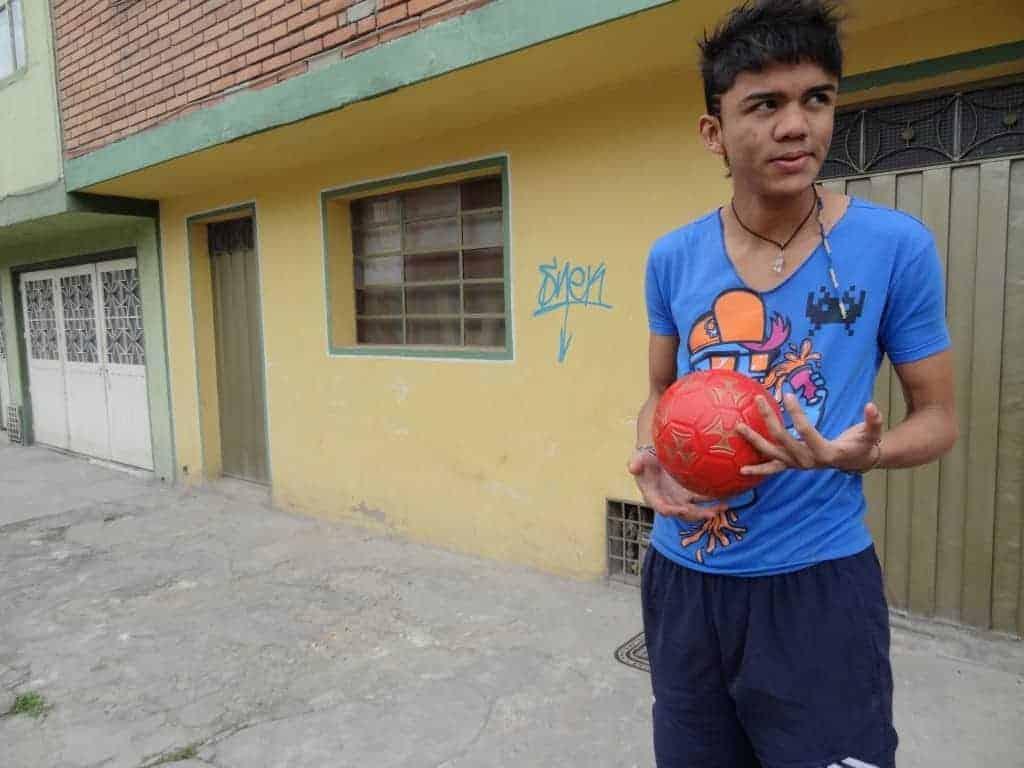 Jesus Martinez, former child soldier in Bogota