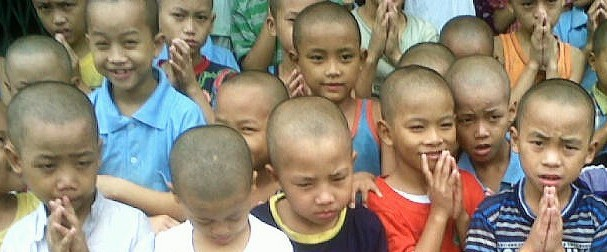 Burmese boys at a monastery