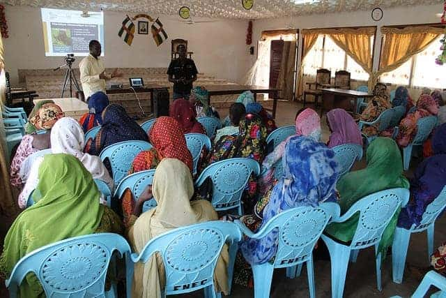 Meeting with Muslim women in Bangui, CAR