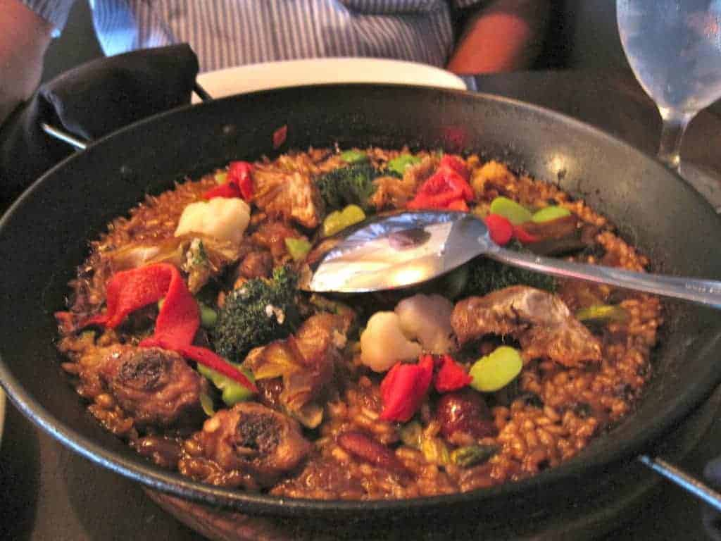 Paella, the daily special at Socarrat in Midtown Manhattan