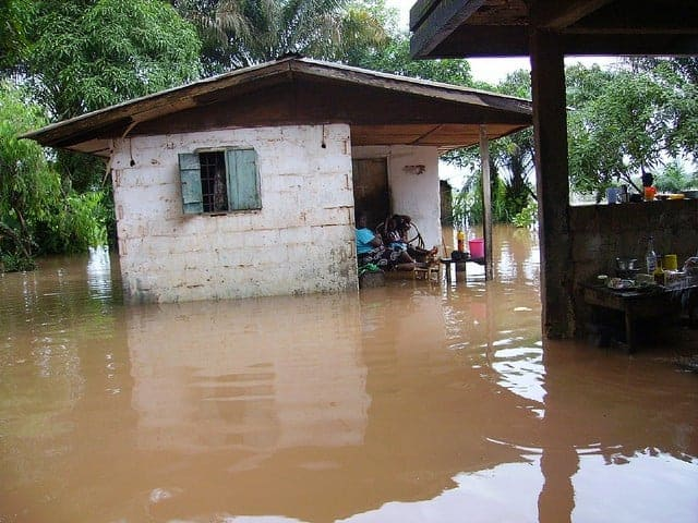 Flood in Congotown, Liberia