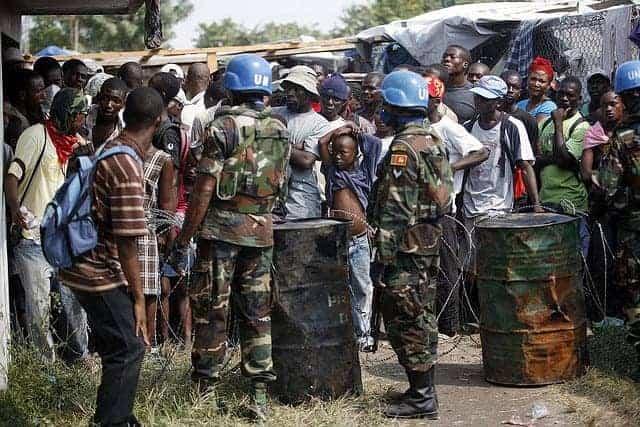 Minustah in Haiti peacekeepers