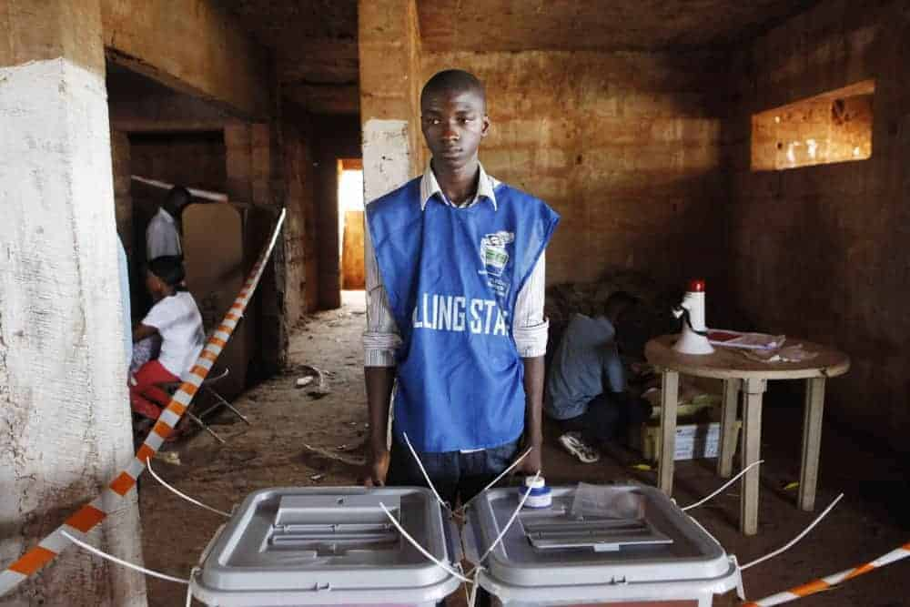 Sierra Leone polling station on Election Day, Nov. 17, 2012