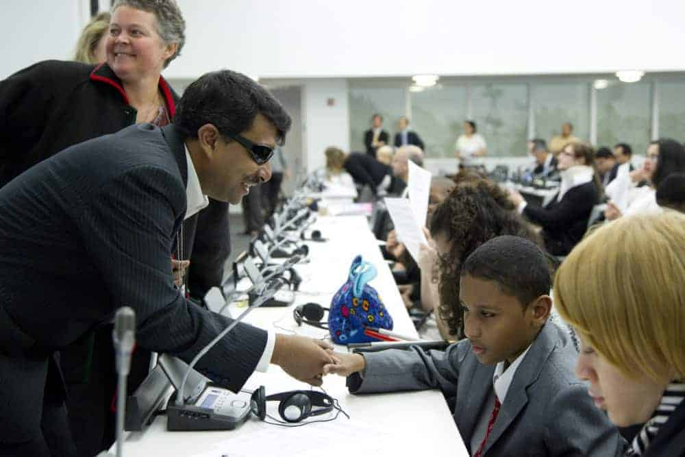 At the UN's International Day of Persons with Disabilities
