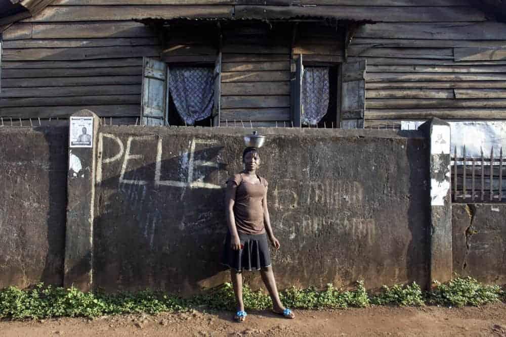 A girl in Freetown, Sierra Leone