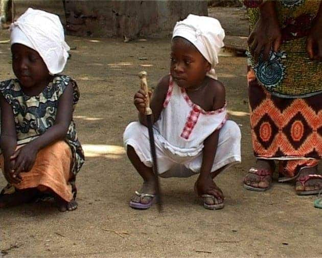 Young girls in Sierra Leone about to be circumcised