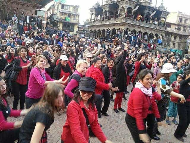 Nepal flash mob