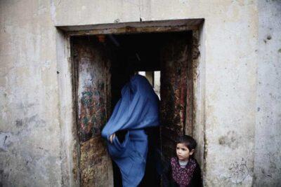 Afghan woman in a burqa, Kabul.