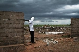 A displaced person in Mali.