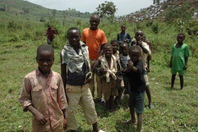 Nyanzale refugee camp children