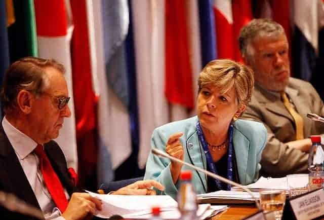 Alicia Barcena of ECLAC and Jan Eliasson of the UN