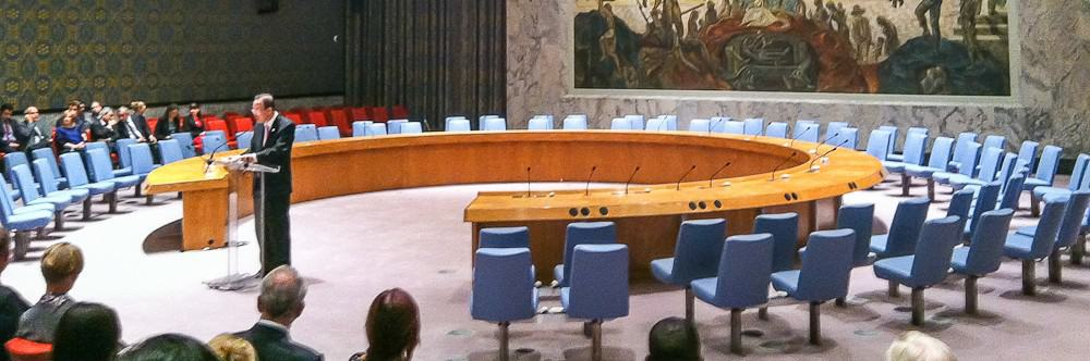 UN Security Council Chamber reopening
