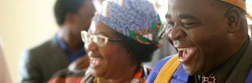Joyce Banda and Chief Kwataine of Malawi
