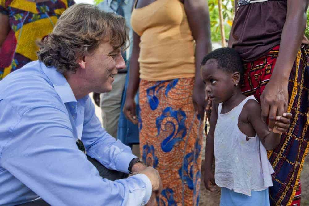 Bert Koenders in Bouake, Ivory Coast
