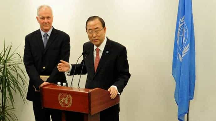 Sellstrom and Ban Ki-moon