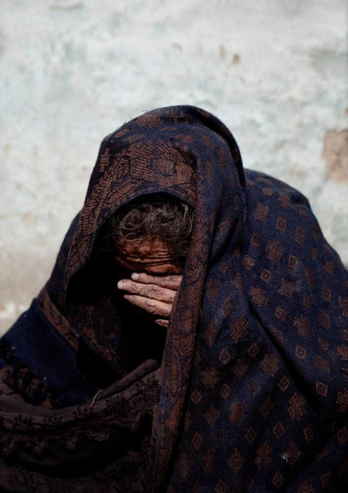 An Afghan refugee from Helmand Province