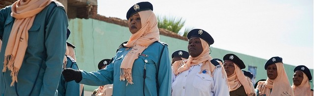 Sudanese police women in North Darfur