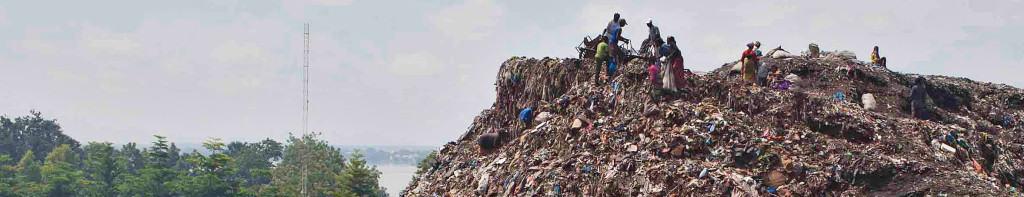 Garbage dump in Bamako, Mali