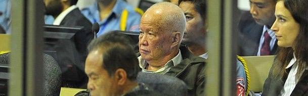 Khieu Samphan, defendant at Cambodia tribunal