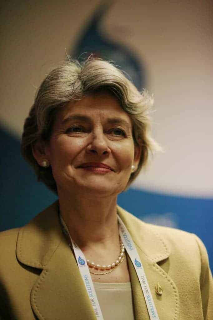 Irina Bokova of Unesco
