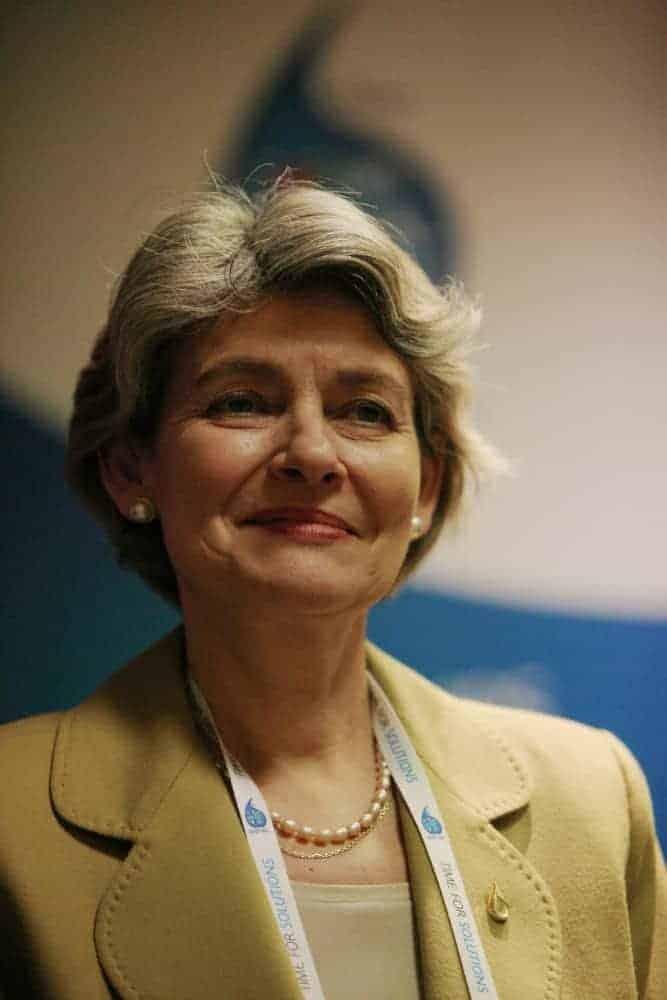 Irina Bokova of Unesco