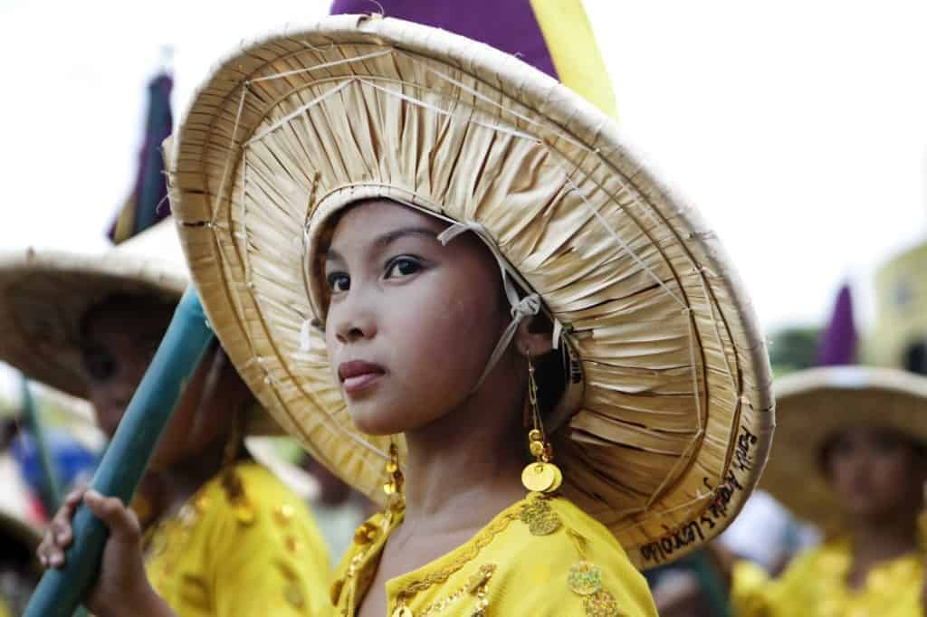 A Filipino girl in a Pinoy parade.
