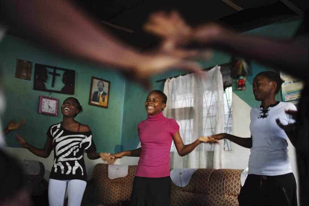 Teenage girls in Cameroon