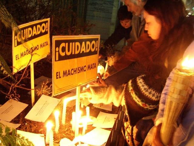 Memorial femicide protest in Chile