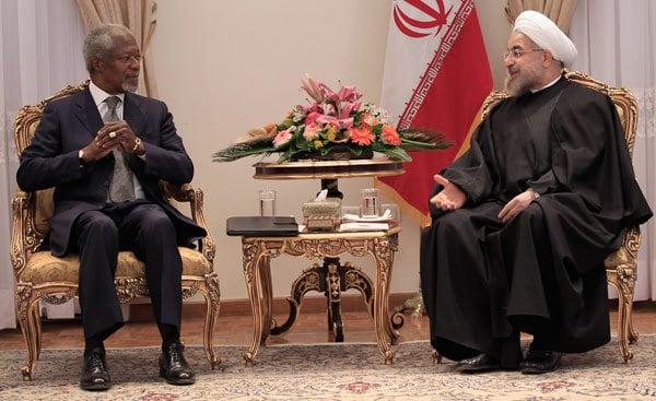 Kofi Annan and President Rouhani, Iran