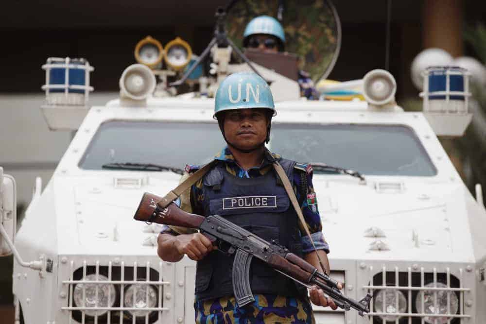 Bangladesh peacekeeper at UN headquarters in Mali