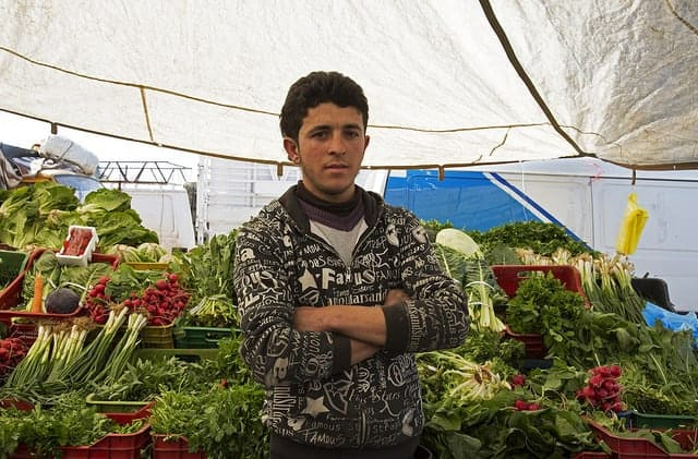 A UN-supported market in Lebanon.