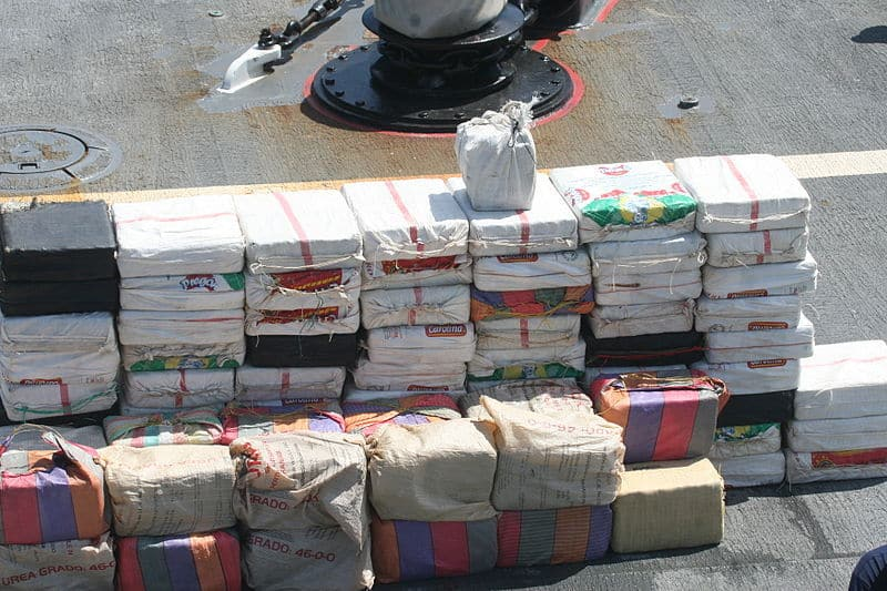 Cocaine bales on USS Nicholas