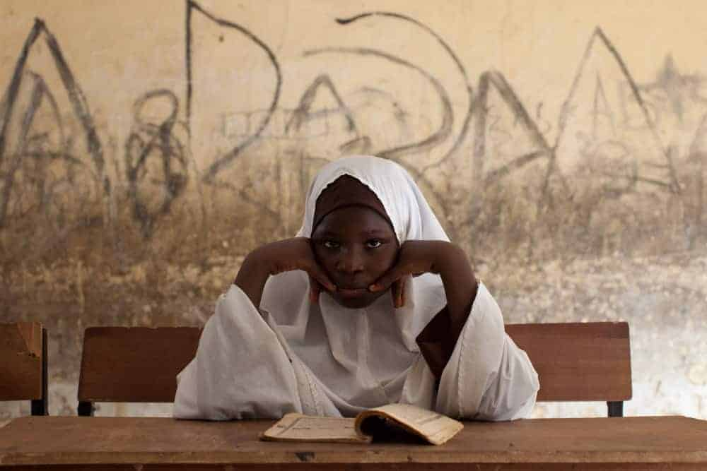 A schoolgirl in northern Nigeria