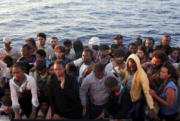 tktktkt Mediterranean migrants rescued by the Italian Coast Guard. FRANCESCO MALAVOLTA/IOM