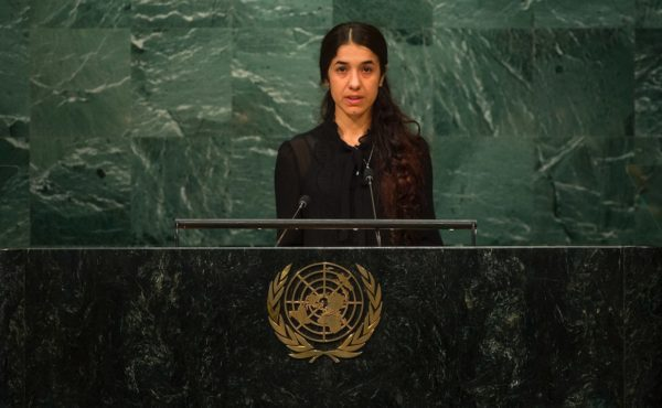 Nadia Murad Basel Taha, a UN good-will envoy for survivors of human trafficking. CIA PAK/UN PHOTO