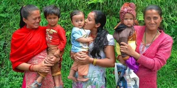 New mothers in Nepal trained in 'optimal health and nutrition for themselves and babies VALERIE CALDAS/USAID