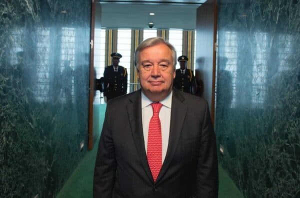 António Guterres, the UN designate secretary-general, on his way to the UN General Assembly to adopt his appointment as the ninth secretary-general. ESKINDER DEBEBE
