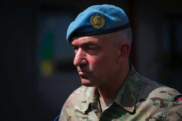 Maj. Gen. Michael Lollesgaard, the force commander for the UN peace mission in Mali. MINUSMA