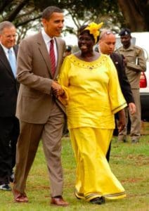 Barack Obama, a senator from Illinois in this picture, with Wangari, on Aug. 28, 2006. FREDRICK ONYANGO/CREATIVE COMMONS