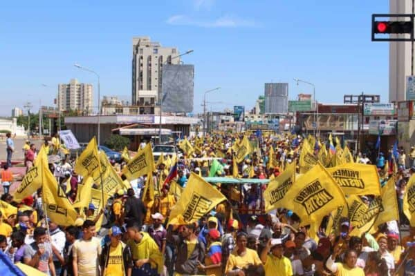 A protest in Maracaibo, a city in northwest Venezuela, to demand the recall of President Maduro. JUAN PABLO GUANIPA/CREATIVE COMMONS