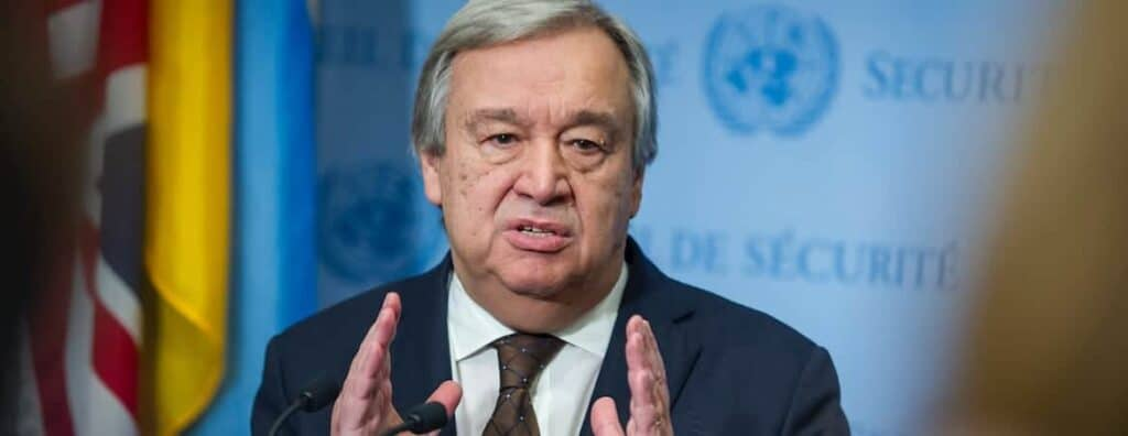 António Guterres, the United Nations secretary-general