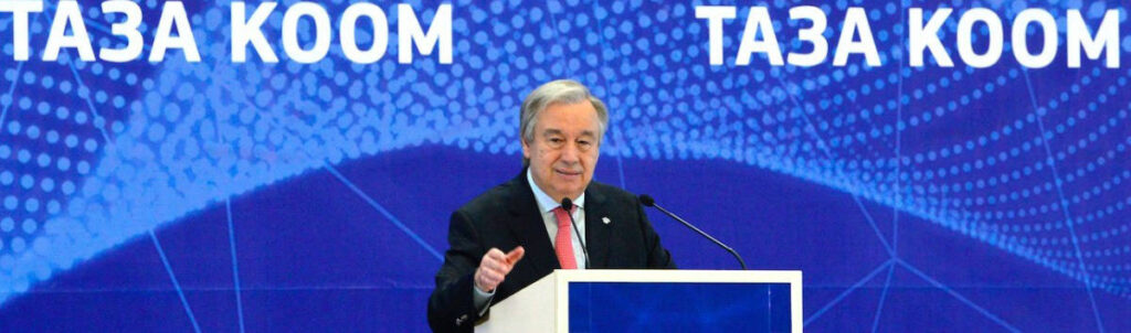 Photo: UN Secretary-General António Guterres in Bishkek, Kyrgyzstan
