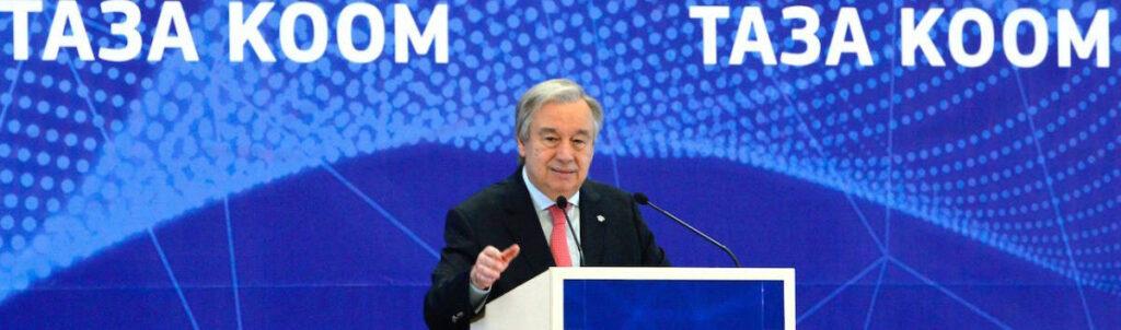 Photo: UN Secretary-GeneralAntónio Guterres in Bishkek, Kyrgyzstan